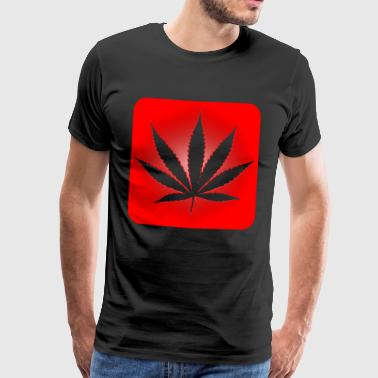 Red Leaf Cannabis Dope idée cadeau Weed herbe - T-shirt Premium Homme