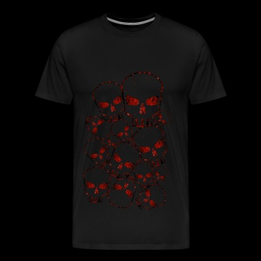 Schedel Crowd Red - Mannen Premium T-shirt
