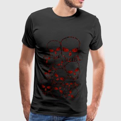 Skull Crowd Red - Men's Premium T-Shirt