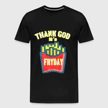 Fryday Fries vintage fries - Men's Premium T-Shirt