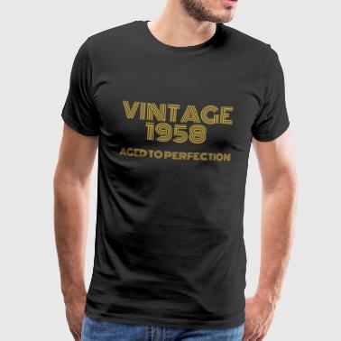 Vintage Pop Art 1958 anniversaire. Vieilli à la perfection. - T-shirt Premium Homme
