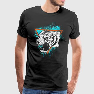 Tiger gift cat predator animal miauw - Mannen Premium T-shirt