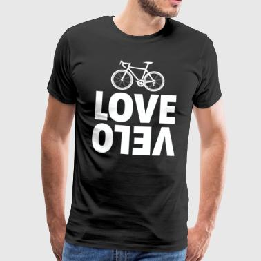 Cycling Love velo white - Men's Premium T-Shirt