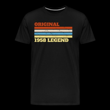 1958 58 Present Bday Birthday - Men's Premium T-Shirt