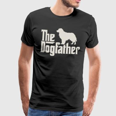 The Dogfather - Golden Retriever Flat-Coated - Men's Premium T-Shirt