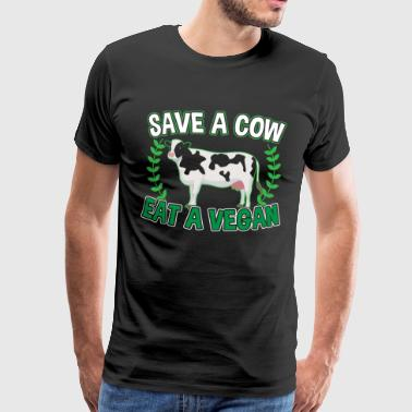 SAVE A COW - Men's Premium T-Shirt