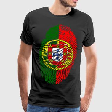 PORTUGAL / PORTUGIESE FINGERABPRESSION - Men's Premium T-Shirt