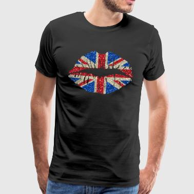 Sexy lips Great Britain England Union Jack - Men's Premium T-Shirt