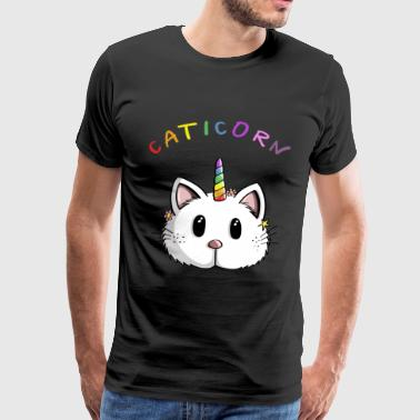 Caticorn Kawaii Rainbow Unicorn Cat - Moro - Premium T-skjorte for menn