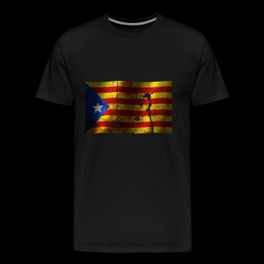 Catalonia flag cool vintage used sport style - Men's Premium T-Shirt