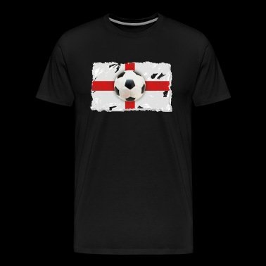 Football over a cohesive English flag - Men's Premium T-Shirt