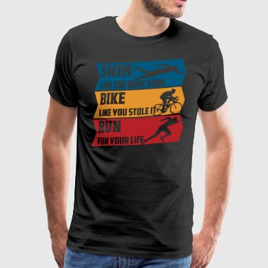 Swim - Bike - Run - Men's Premium T-Shirt