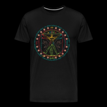 Vitruvian Cosmo Wise Man - Men's Premium T-Shirt
