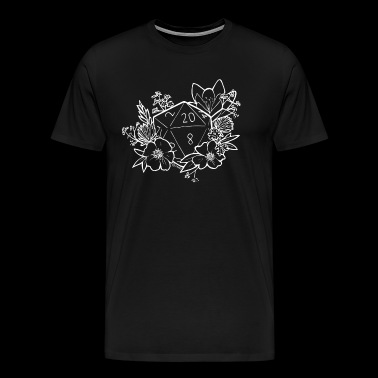 DUNGEONS 'n' FLOWERS - WHITE - Men's Premium T-Shirt