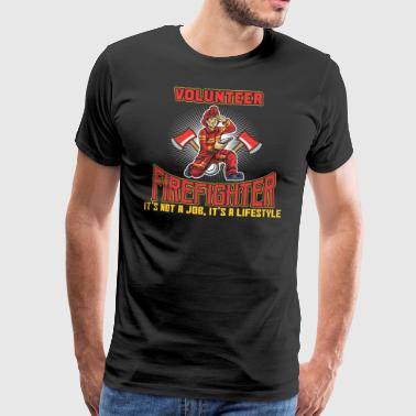 VOLUNTEER FIREFIGHTER - Men's Premium T-Shirt