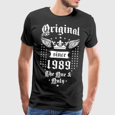 Original sinds 1989 The One and Only Crown Wings - Mannen Premium T-shirt