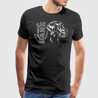 GREAT DANE Portret Wilsigns Duitse mastiff - Mannen Premium T-shirt