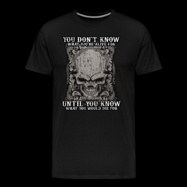 Tattoo tattoo skull death biker gift idea - Men's Premium T-Shirt