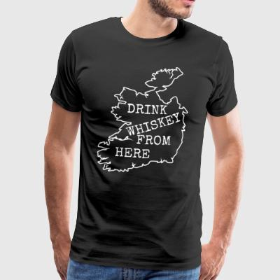 Classic Vintage Drink Irish Whiskey.Ireland.Map - Men's Premium T-Shirt