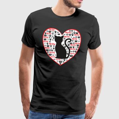 The cat love - red - Men's Premium T-Shirt