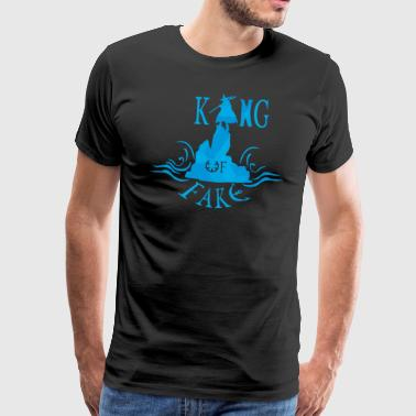 king of fake - Camiseta premium hombre