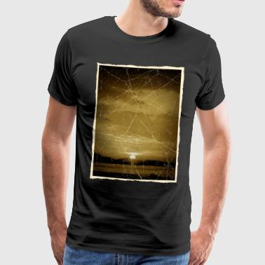 Retro Sunset - Premium T-skjorte for menn