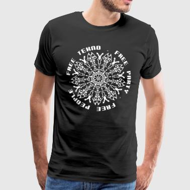 free tekno free party free people - Männer Premium T-Shirt