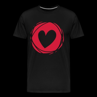 Heart Love Valentines Day Carnival Carnival Marriage - Men's Premium T-Shirt