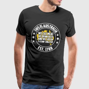 Australia dialect fan t-shirt - Men's Premium T-Shirt