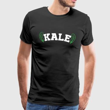 Kale shirt with cabbage leaves - Men's Premium T-Shirt