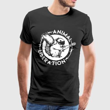 Animal Liberation Squirrel - Men's Premium T-Shirt