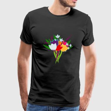Bouquet de tulipes - T-shirt Premium Homme