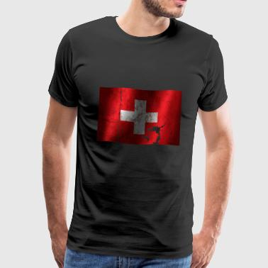 Switzerland flag cool vintage used sport look - Men's Premium T-Shirt