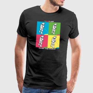 Troop Art - Stormtrooper auf Pop-Art Party - Männer Premium T-Shirt
