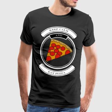 Stay cool and eat pizza - Men's Premium T-Shirt