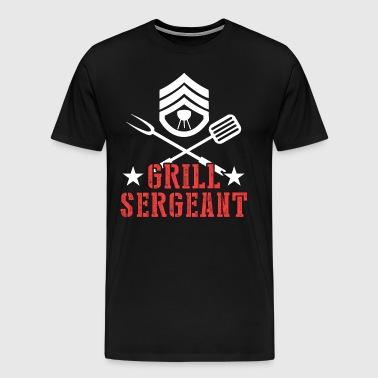 BBQ Sergeant BBQ Grilling Father's Day - Men's Premium T-Shirt