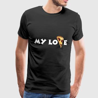 Pizza / Italy / Cheese pizza / Love - Men's Premium T-Shirt