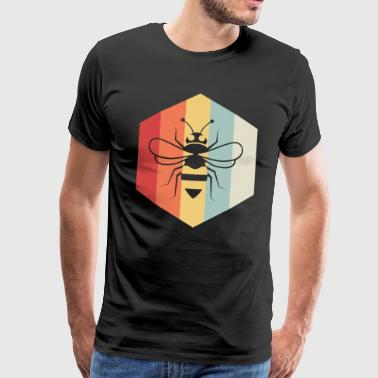 Bee polygon gift beekeeper animal protection animal - Men's Premium T-Shirt