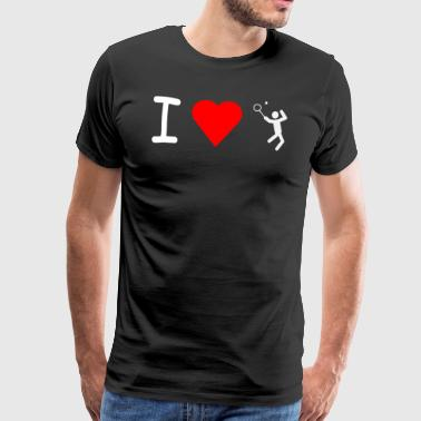 I love Tennis - Premium T-skjorte for menn