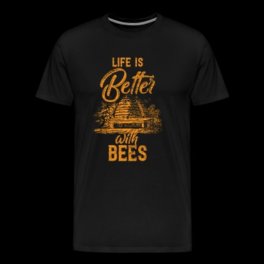 Life is better with bees - Men's Premium T-Shirt