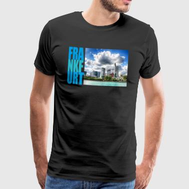 Frankfurt am Main, Skyline - Herre premium T-shirt