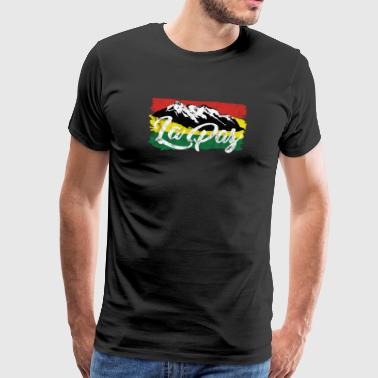 Andean silhouette saying La Paz Bolivia gift - Men's Premium T-Shirt