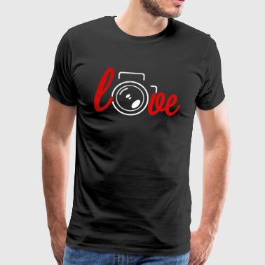 I love photography photographer camera photo lens - Men's Premium T-Shirt