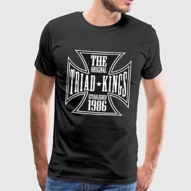 Triad King Emblem Print - Men's Premium T-Shirt