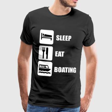 SLEEP EAT BÅTLIV - Premium T-skjorte for menn