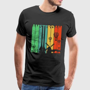 Vintage Retro Amsterdam.Explore.Holland.Europe. - Mannen Premium T-shirt