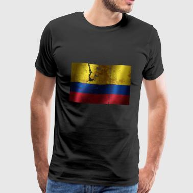 Colombia flag cool vintage used sport look - Men's Premium T-Shirt