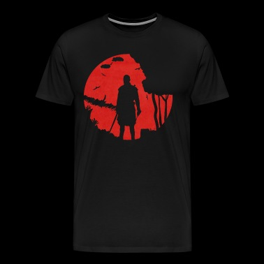 Warrior in moonlight - Mannen Premium T-shirt