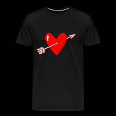 Heart with arrow Valentine's Day marriage - Men's Premium T-Shirt