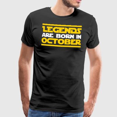 Legends are born in October - Männer Premium T-Shirt